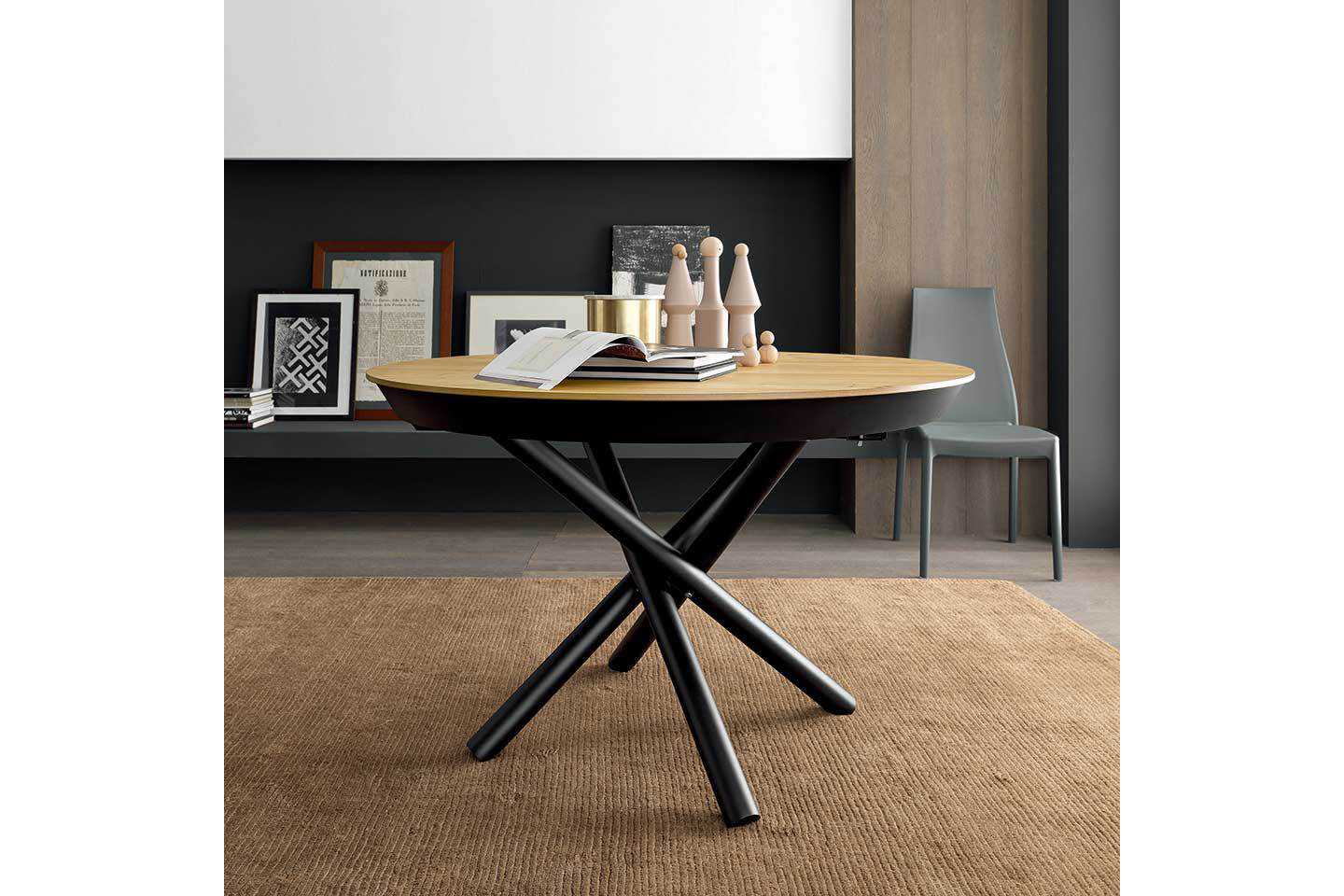 Mobili Italia_ALTACOM FAHRENHEIT ROUND extension table